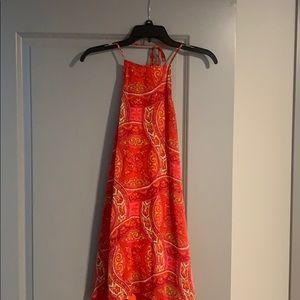 Patterned Show Me Your MuMu halter dress